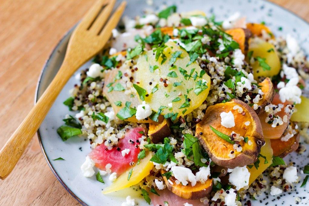 quinoa-biet-zoete-aardappel-geitenkaas-personal-foodcoaching